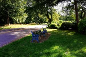 Bench at Pentre Mawr Park, Abergele, Nr Castle Cove Caravan Park