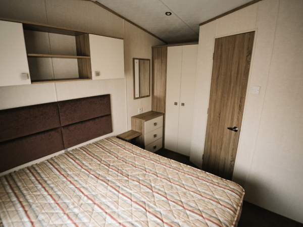 2017 Carnaby Oakdale 35ft x 12ft - 2 bed for sale at Castle Cove Caravan Park in Abergele North Wales - Master Bedroom