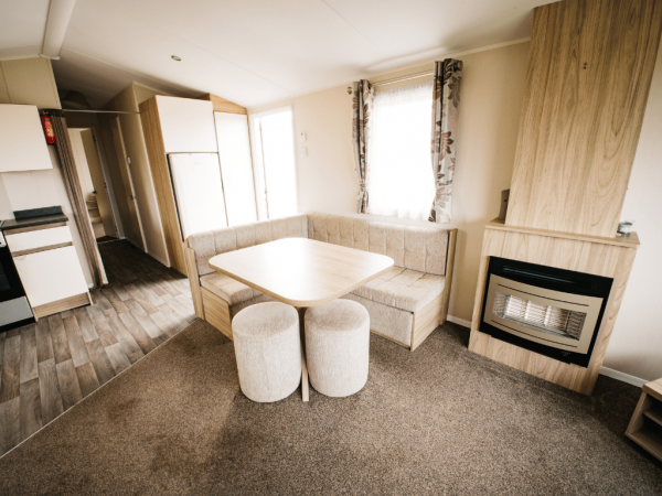 2016 Willerby Peppy 35ft x 12ft - 2 bed for sale at Castle Cove Caravan Park in Abergele North Wales - Dining area